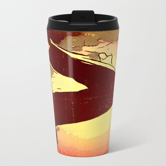Mourning Sun Metal Travel Mug