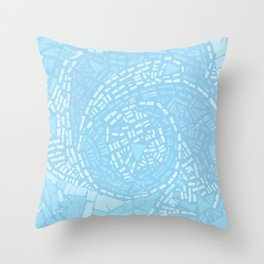 Happy lightful blue Mosaic Throw Pillow