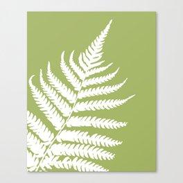 Fern in Woodland Green - Original Floral Botanical Papercut Design Canvas Print