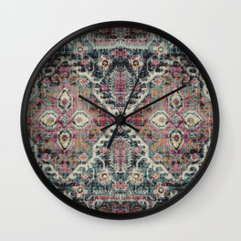 Multicolore Vintage Traditional Carpet Wall Clock