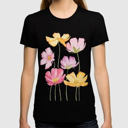 colorful cosmos flower T-shirt