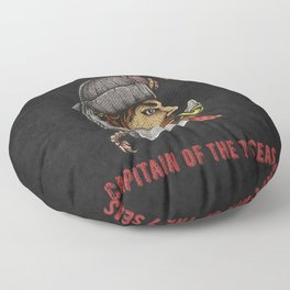 Captain of the seven seas, vintage anchor Floor Pillow