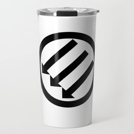 ANTIFA Post-WWII anti-fascism Anti-Fascist Action Anti-racism symbol gray Travel Mug