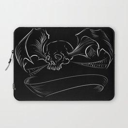 Skull Bat digital design/ with custom banner Laptop Sleeve