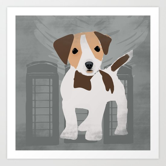 Jack Russel Dog in brown and white color Art Print