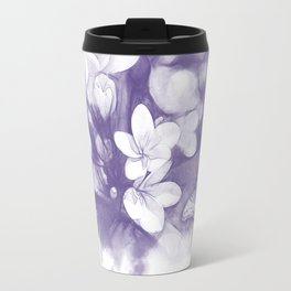 Ultraviolet tropical flowers and butterflies Travel Mug