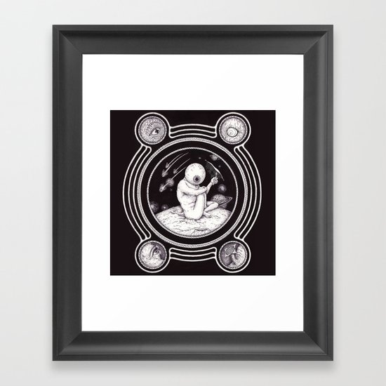 Sp-eye-ce Framed Art Print