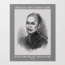 Portrait of Frida Kahlo Canvas Print