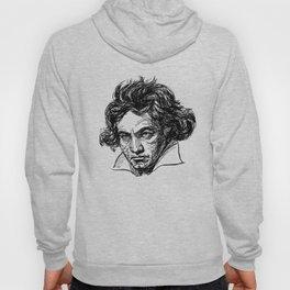 Ludwig Van Beethoven line drawing Hoody