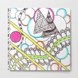 """PathWay"" Colored Zentangle Artwork Metal Print"