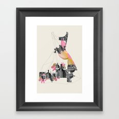 Filled with city Framed Art Print