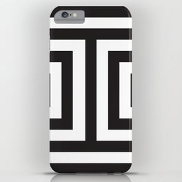 Black Greek Stripes iPhone Case
