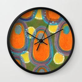 Red Eggs with Blue Fillings Wall Clock