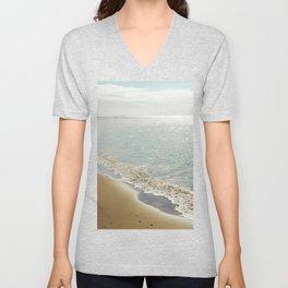 beauty and the beach Unisex V-Neck