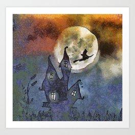 Halloween Horror Scene Art Print