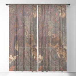 Beware The Jabberwocky Sheer Curtain