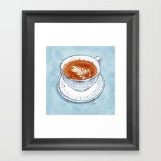 Flat White Framed Art Print