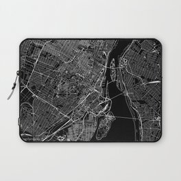 Montreal Black Map Laptop Sleeve