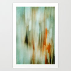 retro blur Art Print