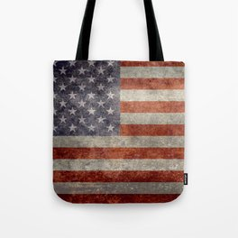 USA flag - Retro vintage Banner Tote Bag