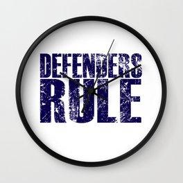 Defenders Rule - Sports Wall Clock