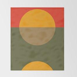 Spring- Pantone Warm color Throw Blanket