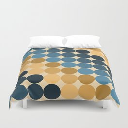 Cirque Pattern in Ochres and Blues Duvet Cover
