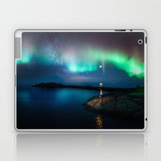 Aurora Borealis Over Coastal Waters Laptop & iPad Skin