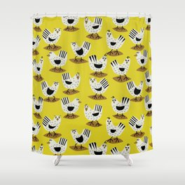 Fowl Mood Shower Curtain