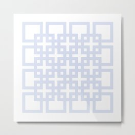 Soft blue squares Metal Print