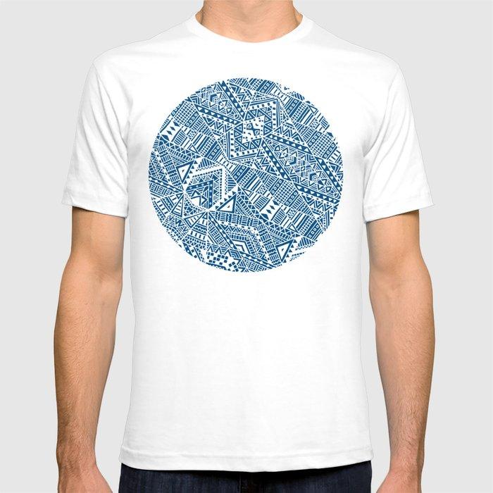 Tribal (blue)  T-shirt
