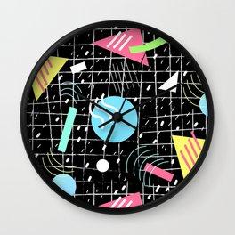 Memphis Style Vibes (Dark) Wall Clock