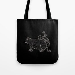 The Known Practice of using Domesticated Bears as cushions while drinking.  Tote Bag
