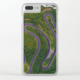 Sinuous road Clear iPhone Case