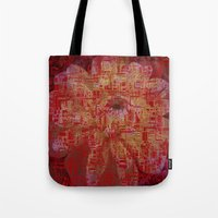 techno Tote Bags featuring Techno Asian by DesignsByMarly