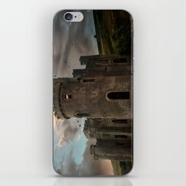 Clifden Castle at the sunset iPhone Skin