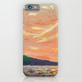 Tom Thomson - Smoke Lake - Canada, Canadian Oil Painting - Group of Seven iPhone Case