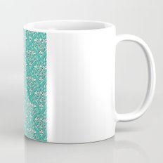damask pattern torquoise with shadow Mug