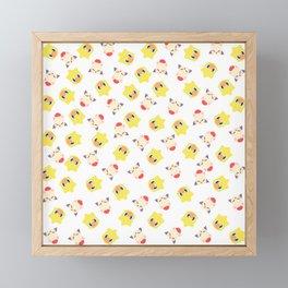 moguchoco pattern Framed Mini Art Print