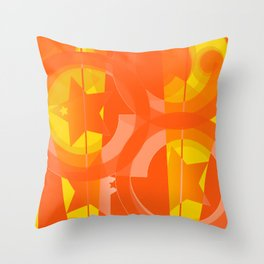 hoe is afraid of orange and yellow Throw Pillow