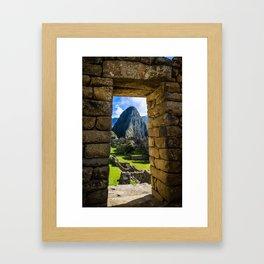 Doorways of Machu Picchu Framed Art Print