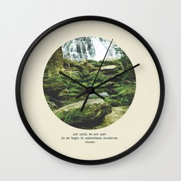 not until we are lost Wall Clock