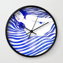 Water Nymph XIV Wall Clock