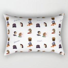 Faces of Spain Rectangular Pillow