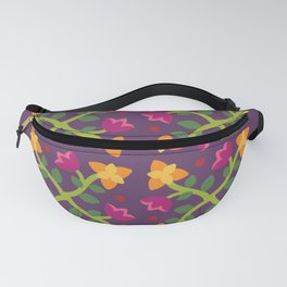Baltimore Woods Floral Cross Pattern Fanny Pack