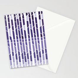 ultra violet geometric Stationery Cards