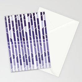 ultra violet geometric Stationery Cards