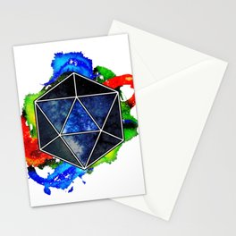 d20 Icosahedron of Imagination Stationery Cards