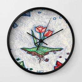 Floating Tulip Wall Clock