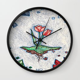 Floating Tulip Wall Clock